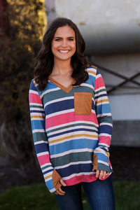 Bright Winter Stripes Top
