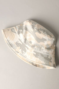 Beige Camo Bucket Hat