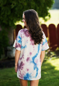 Purple Tie-Dye Knit Top
