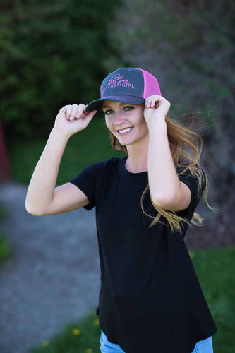 Pink And Grey Trucker Hat