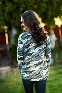 Cross Cross Grey Camo Sweater
