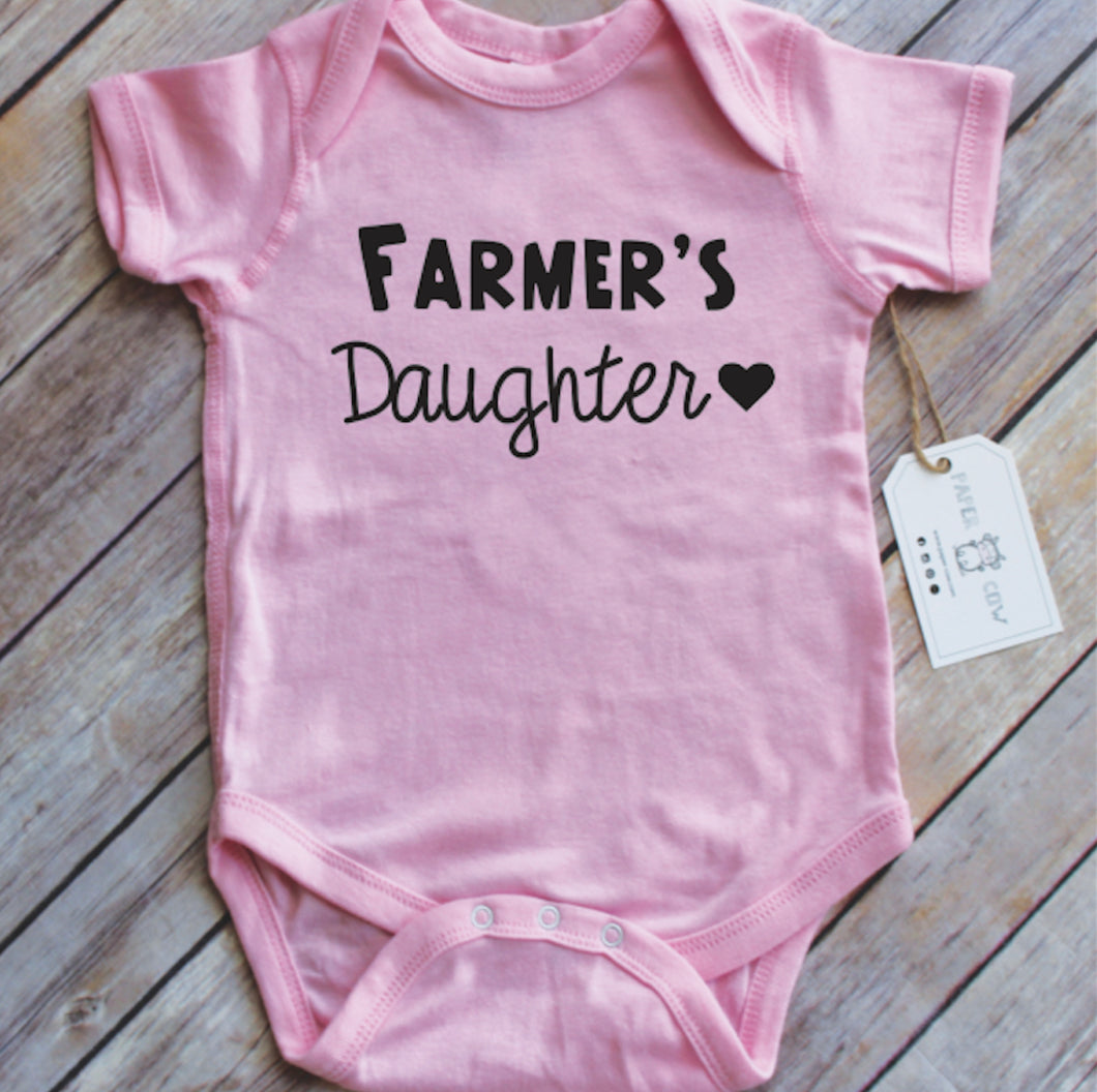 Farmers Daughter Infant Bodysuit - Pink