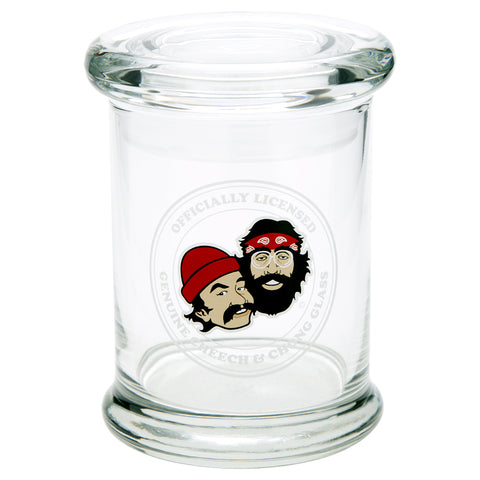 Cheech and Chong Glass Pop Top Jar - Crest