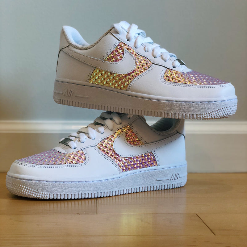 Holographic Diamond AF1s (Kids)
