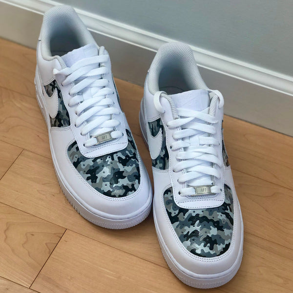 'The Alyssa' Grey Camo Nike AF1 (Men's)