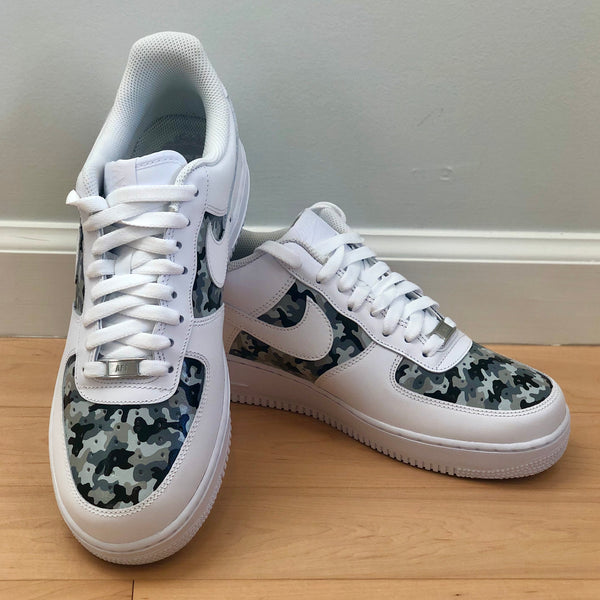 'The Alyssa' Grey Camo Nike AF1 (Women's)