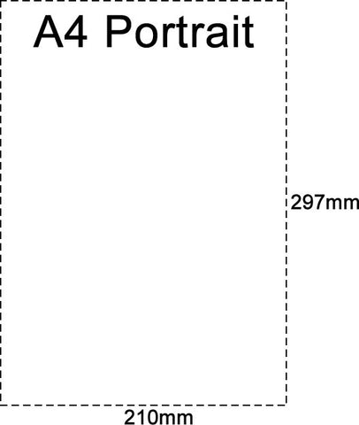A4 Portrait Leaflet/Brochure Sizes