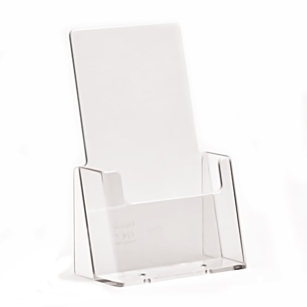 Box of 80 Desktop DL/Trifold Portrait Clear Plastic Leaflet Holders