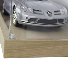 Wall Mounted 1:18 Scale Model Car Display Case with an Oak Floating Shelf