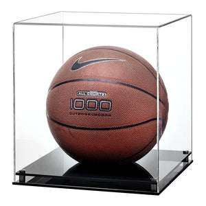 Basketball Display Case with a Modern Base- Available with a black, clear or white base