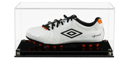 Acrylic Single Football Boot Display Case- Choice of Bases