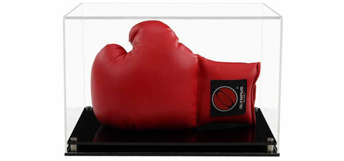 Acrylic Horizontal Boxing Glove Display Case- Choice of Bases
