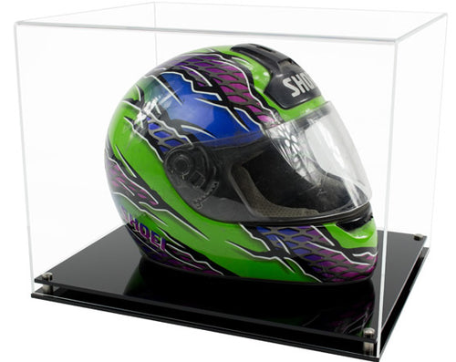 Acrylic F1/Crash Helmet Display Case- Choice of Bases