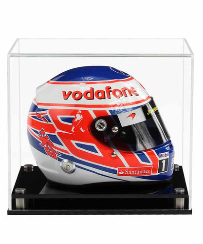 Acrylic Half Scale F1 Helmet Display Case- Choice of Bases