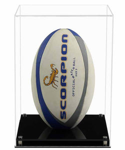 Acrylic Vertical Rugby Ball Display Case- Choice of Bases