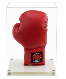Acrylic Vertical Boxing Glove Display Case- Choice of Bases
