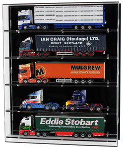 1:50 Scale Model Truck Wall Display Case (5 Shelf)