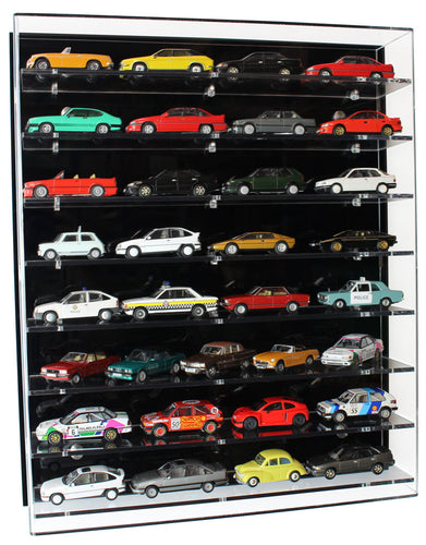 1:43 Scale Model Car Wall Display Case (8 Shelf)