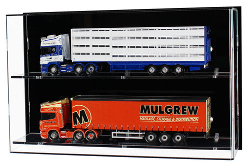 1:50 Scale Model Truck Wall Display Case (2 Shelf)
