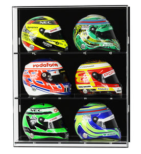 Wall Display Case for Six 1:2 Scale F1 Helmet Models