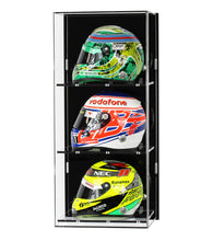 Wall Display Case for Three 1:2 Scale F1 Helmet Models