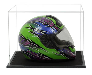 Acrylic Crash Helmet Display Case- Choice of Bases