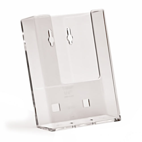 Box of 100 Wall Mounted DL/Trifold Portrait Clear Plastic Leaflet Holders