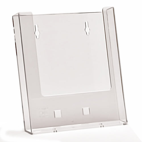 Box of 88 Wall Mounted A5 Portrait Clear Plastic Leaflet Holders