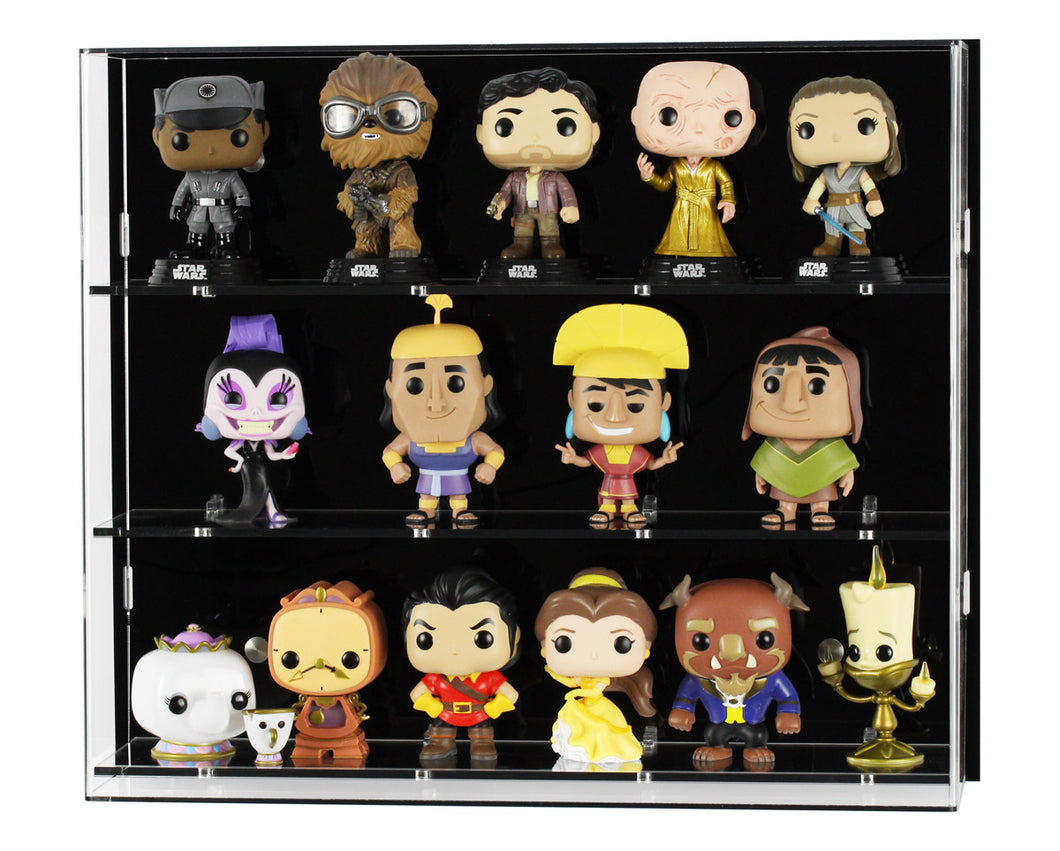 Three Shelf Funko Pop Wall Display Case