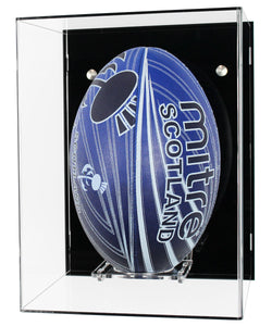 Rugby Ball Wall Display Case