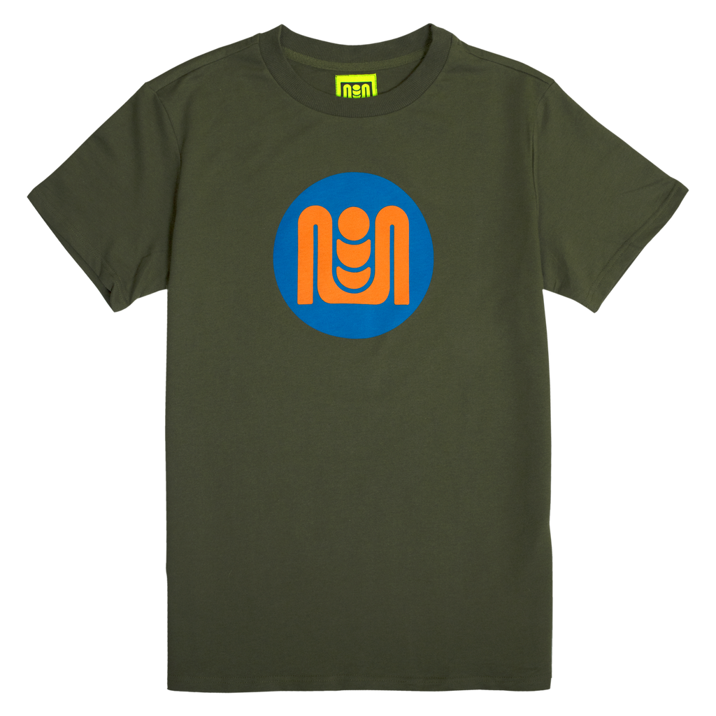 BUTTON LOGO TEE - OLIVE GREEN