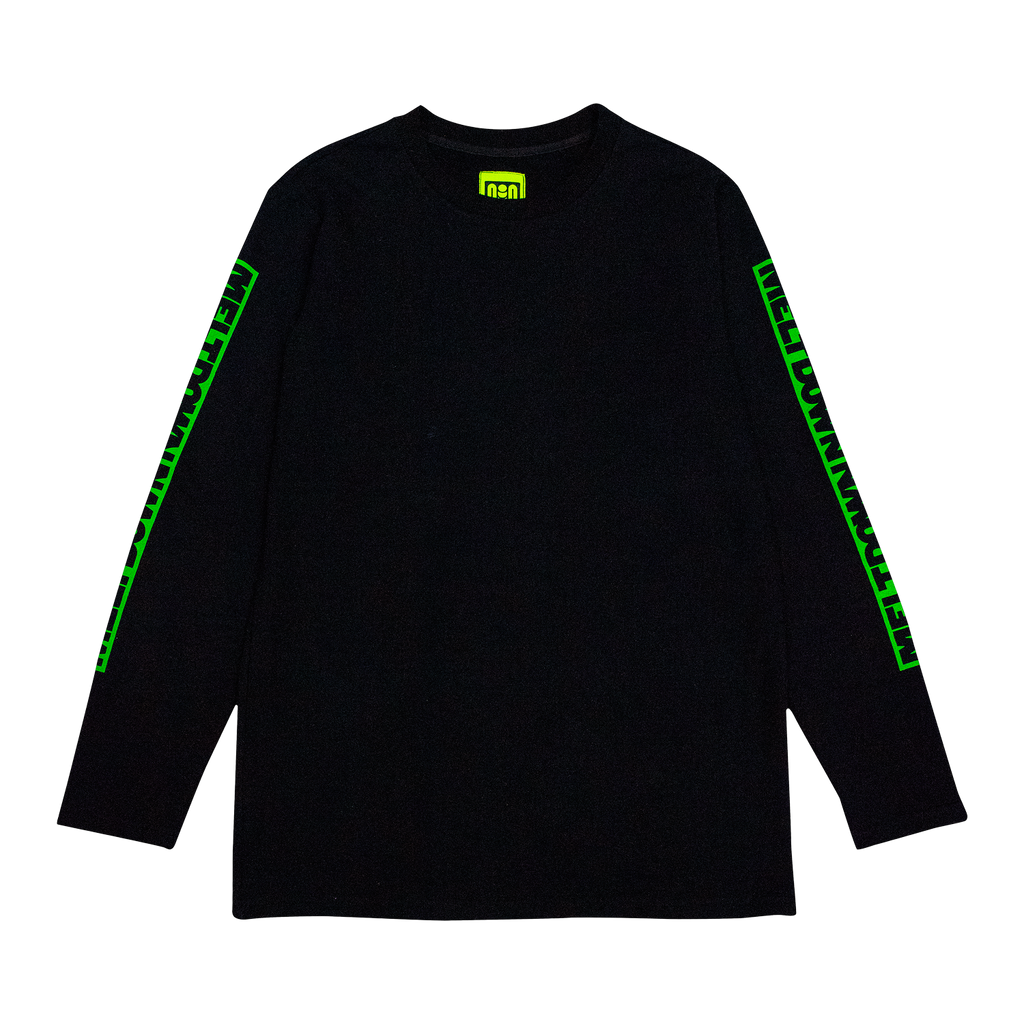 WATCH YOUR BACK LONG SLEEVE TEE - BLACK