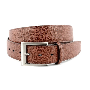 "Torino Belt - ""Basketball Grain"" Tan - Liam John USA"