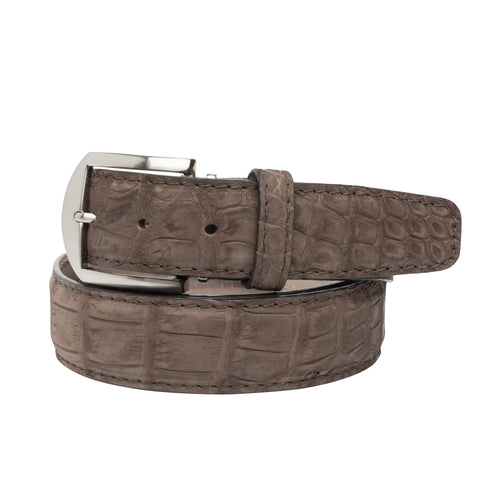 LEN Belt - Buffed Alligator Brown - Liam John USA
