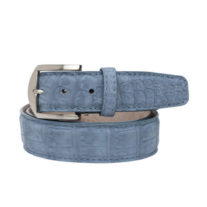 LEN Belt - Buffed Alligator Caribbean Blue - Liam John USA