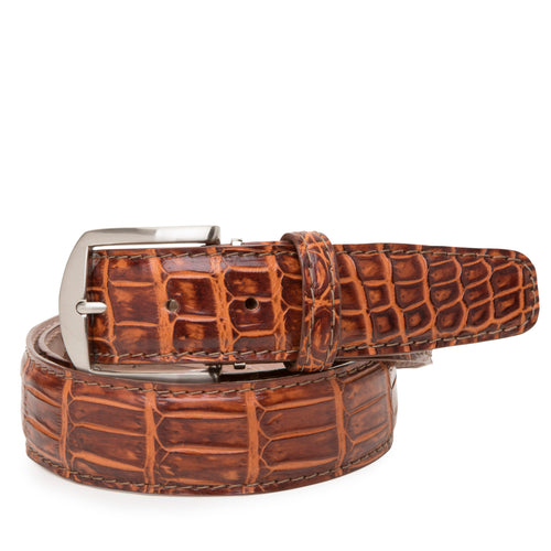 LEN Belt- Nile Crocodile Rum - Liam John USA