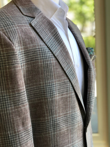 Liam John Sport Coat - Dust Pink with Grey Plaid - Liam John USA