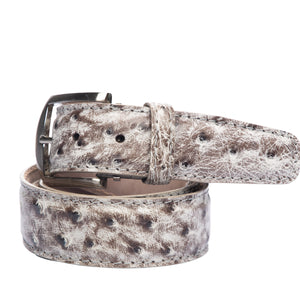 LEN Belt - Quilled Ostrich Smoke - Liam John USA