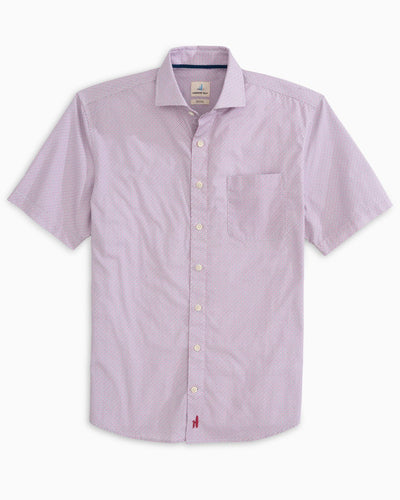 Johnnie O - Reading SS Button down - Strawberry - Liam John USA