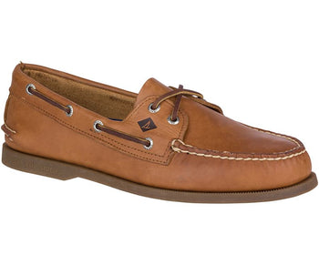 Sperry Men's Authentic Original Leather Boat Shoe (Wide) - Brandy`s shoes