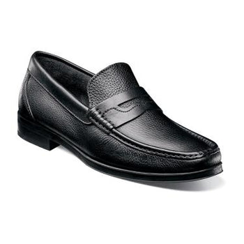 Florsheim Men's Westbrooke Penny Loafer Black Tumbled 14186-007 - Brandy`s shoes