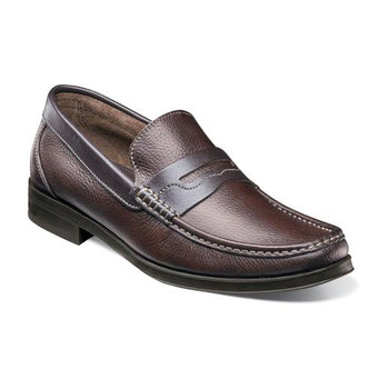 WESTBROOKE MOC TOE PENNY LOAFER - Brandy`s shoes