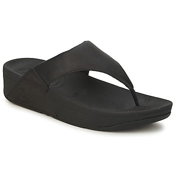 Women Sandal  LULU™ Toe-Thongs (Shimmer-Check) Leather BY FitFlop - Brandy`s shoes