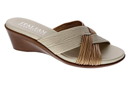 ITALIAN SHOEMAKERS Womens Saylor Wedge Sandal (6 M US, Metallic Multi)
