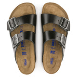 Women Birkenstock Sandal Arizona Smooth Leather Soft Foot-bed