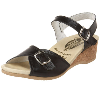 Women's Worishofer 711 Ankle Strap Wedge Sandal - Brandy`s shoes