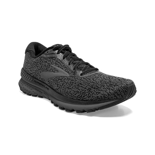 BROOKS ADRENALINE BLACK/EBONY RUNNING SHOE