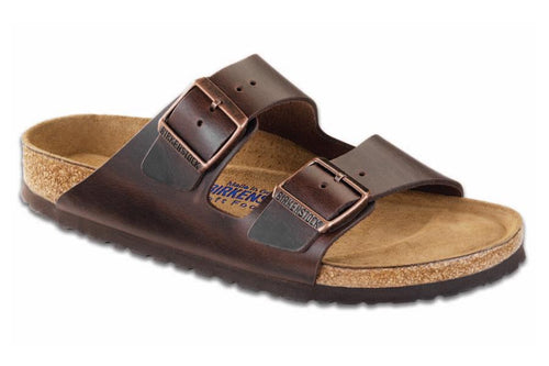 BIRKENSTOCK ARIZONA AMALFI BROWN SOFT BED