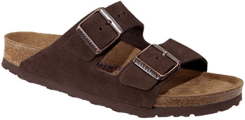 BIRKENSTOCK ARIZONA MOCHA SUEDE SOFT BED SANDAL