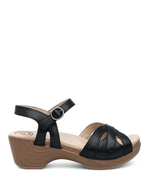 DANSKO SEASON SANDAL BLK FULL GRAIN LEATHER